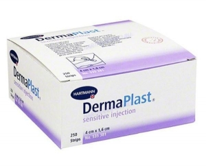 Náplast DermaPlast inject. sensitive 4x1,6cm á250ks